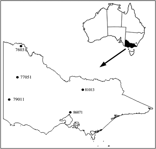 Locations of the study site.