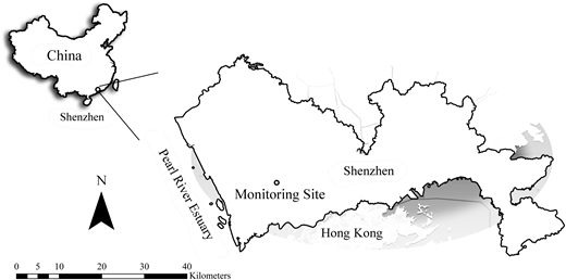 The location of the sampling site.