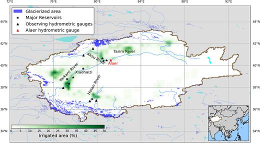 Location of the Tarim River Basin.