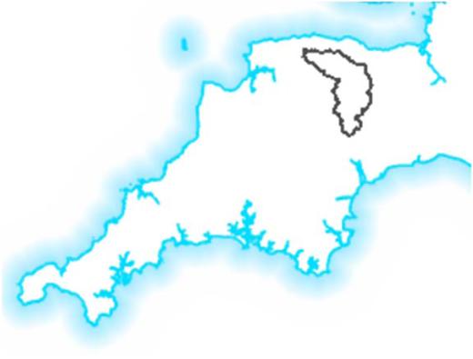 Location of the Thorverton catchment.