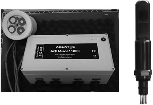 Seapoint Turbidity Meter sensor and data logger.