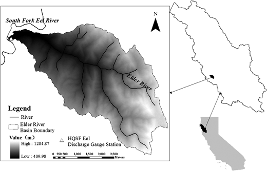 The Elder Creek River basin.