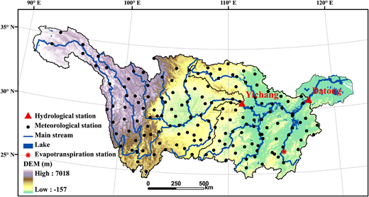 YRB showing topography and ground-based measurement sites.