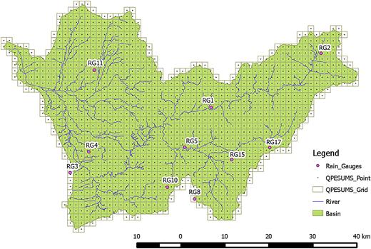 Representative 10-clusters network in Wu River watershed.