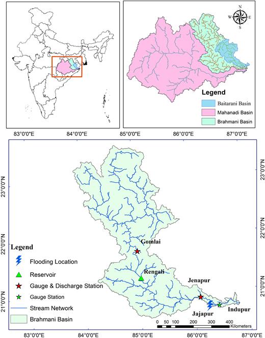 Map of the Brahmani basin.