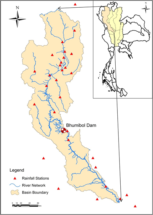 The Ping River Basin (Thailand).
