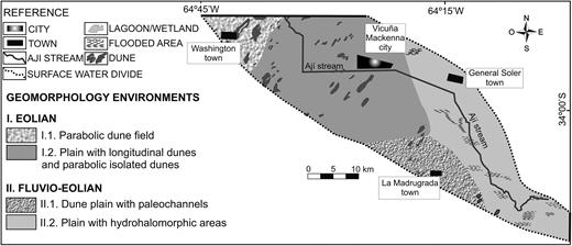 Geomorphological map.