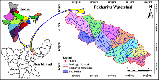 Location map of the Pokhariya.