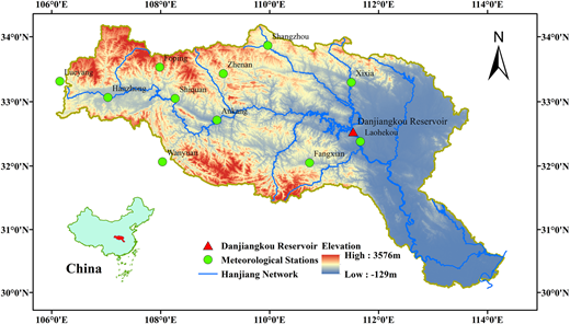 Location of the Hanjiang River watershed.