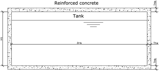 Scheme for computing the concrete used in tank construction.