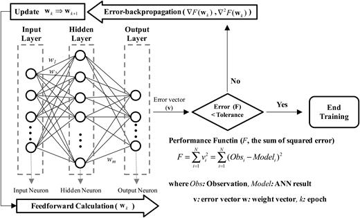 Backpropagation training algorithm of MFNN.
