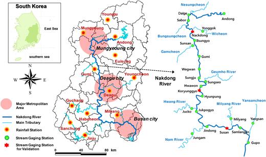 Study site: the Nakdong River.