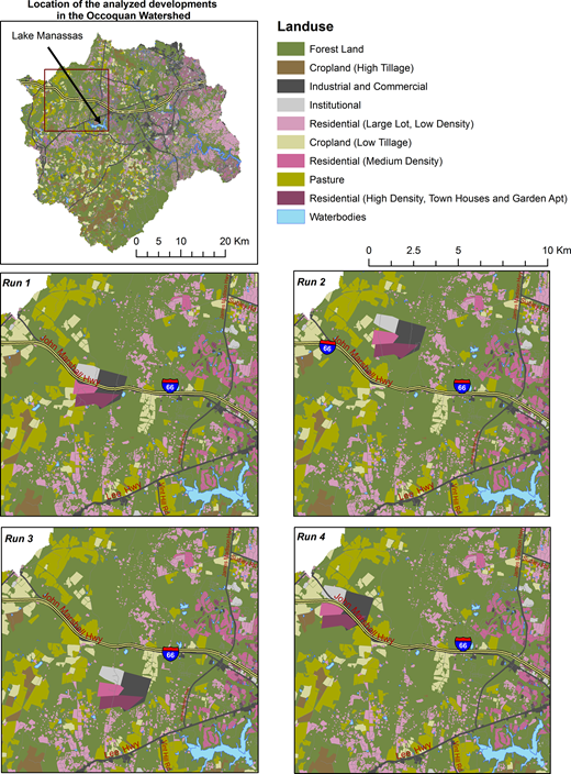 Developments near Lake Manassas analyzed for water resources impact.