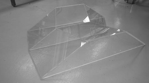 Photograph of the plexiglass weir.