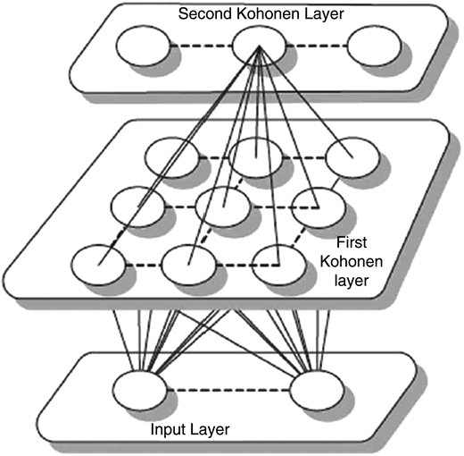 Architecture of the two-level SOM neural network (Hsu & Li 2010).
