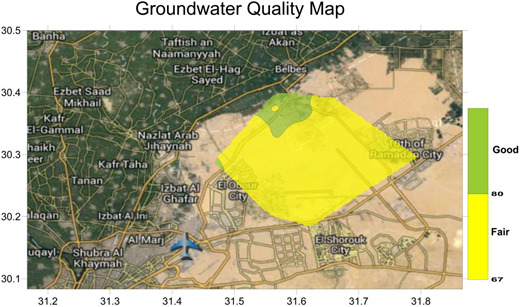 Groundwater quality map for the study area using Super GIS.