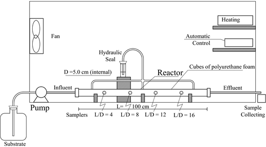 Schematic of the experimental set up with the HAIB reactor.