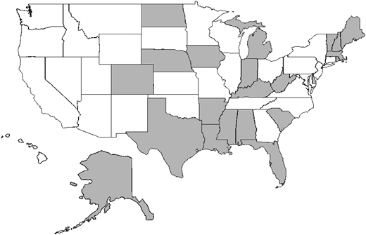States with operational reports on water fluoridation, available by water system.