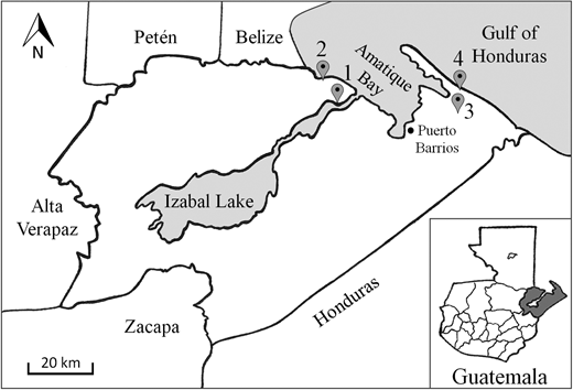 Location of villages participating in the study.