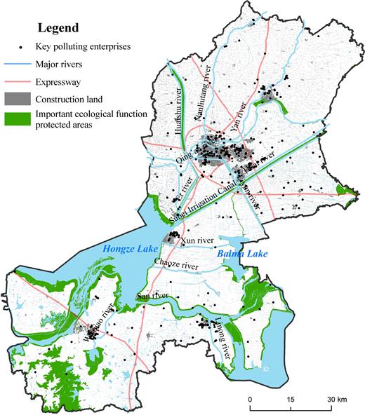 Distribution of key polluting enterprises.