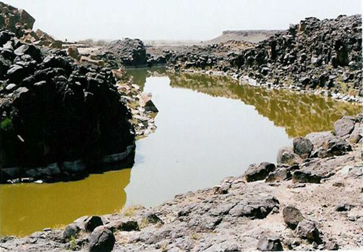 Dam contaminated with sewage (Al-Mosireqa-Al-Rawda, Sana'a, Yemen) (Parliament's Water and Environment Committee Report 2004).