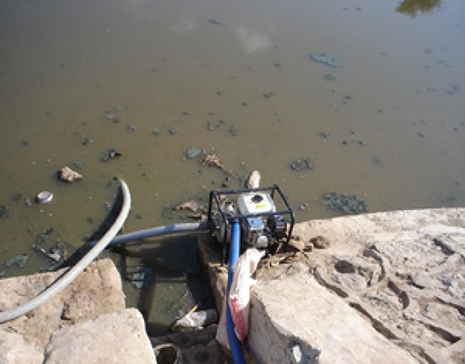 Yemeni farmers are pumping sewage directly from stabilization pond to irrigate agricultural crops (IRIN 2009).