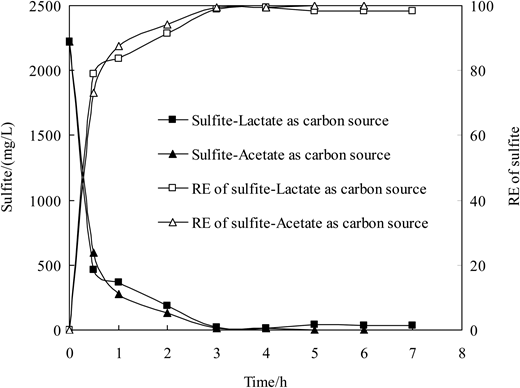 Effects of different carbon sources on the desulfurization performance of BTF.