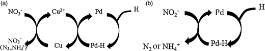 Generally accepted role of (a) Cu and (b) Pd.