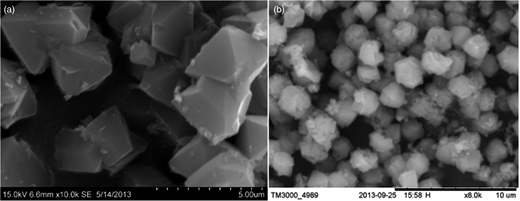 SEM graph of raw (a) and recycled (b) ZXCG.