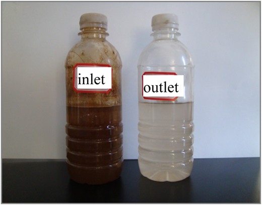 Comparison between inflow and outflow samples.