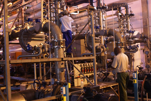 NGWRP – Ultra-filtration undergoing servicing by local staff.