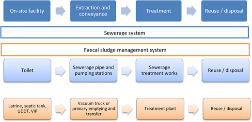 Components of the sanitation chain. Adapted from Kyomugisha (2016).