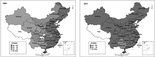 RPRWIB in 1993 and 2011.
