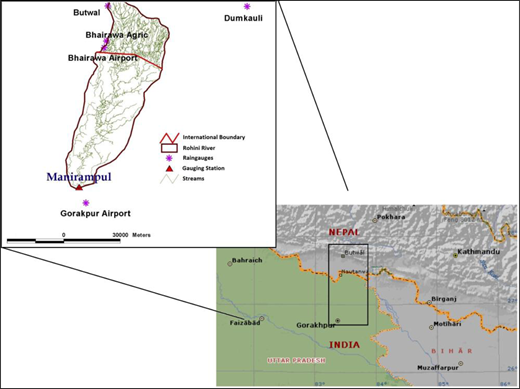 Location and features of Rohini basin (Source:Moench et al., 2008).