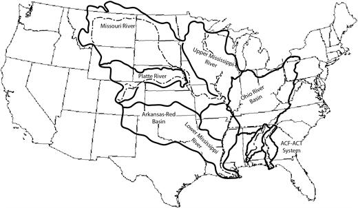 Location of case study river basins.