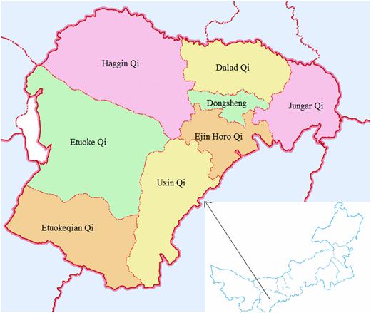 Location of Ordos.