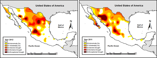 SPI, Mexico, 2011 and 2012. Source: Authors.