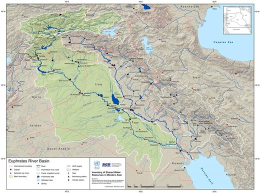 Map of the Euphrates basin. Source:UN-ESCWA (2013, pp. 50–51).