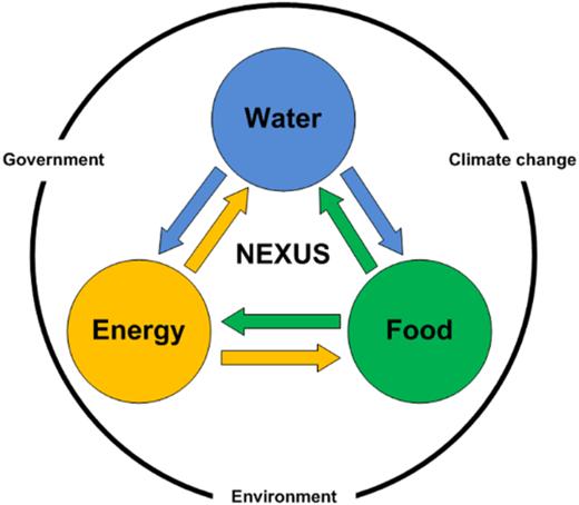 WEF nexus schematic diagram.