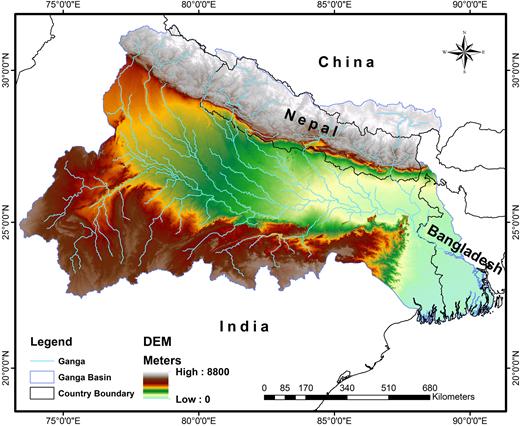 Ganges Basin map (World Bank, 2014).