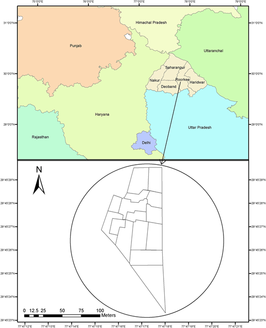 Location map of the study area.