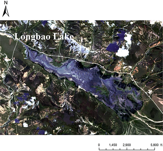Longbao Lake district topography and landforms.